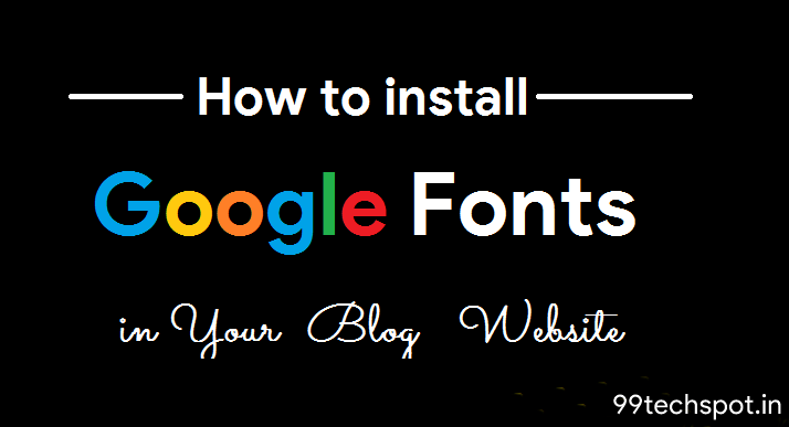 install google font on website