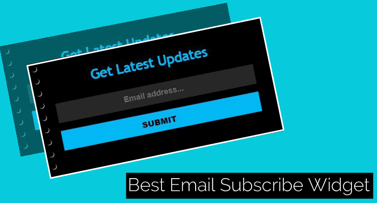 best email subscribe widget