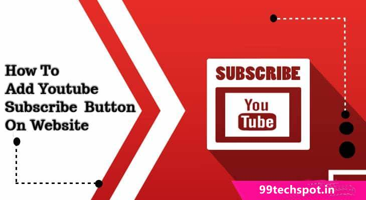 youtube subscribe button for website