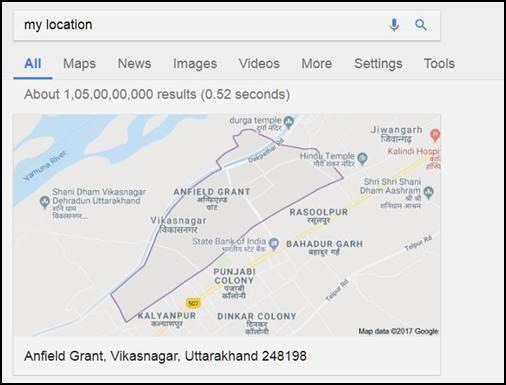 My location Google location