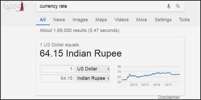 currency rate check