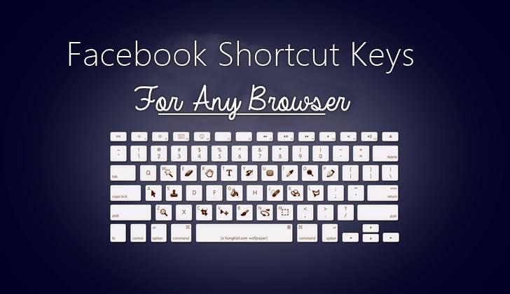 facebook keyword shortcut key for any browser