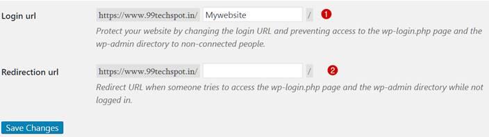 wps hide login page