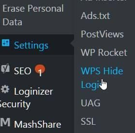 Wps hide login
